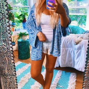 Ocean Vibes Speckled Beachy Coverup Cardi 🌈